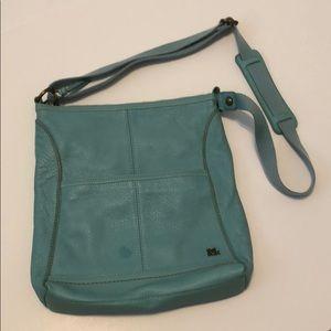 The Sak leather purse aqua
